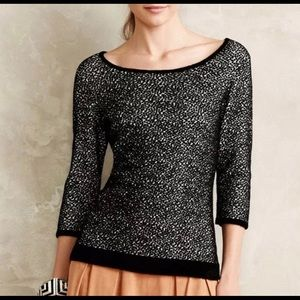 Moth by Anthropologie Spotted Chenille Sweater Top